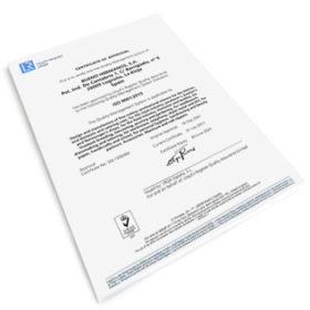 Certyfikat zarządzania jakością nożyczki fryzjerskie